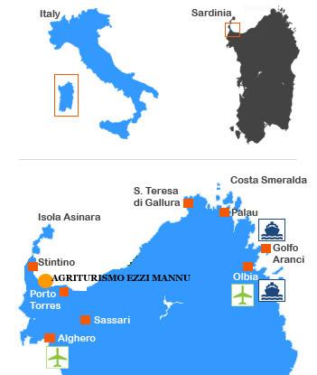 Cartina Sardegna Asinara.Sardegna Agriturismo La Pelosa Ezzi Mannu Stintino Agriturismi Stintino Porto Torres Bed And Breakfast Golfo Asinara Agriturismo Sassari
